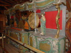 Gavioli fairground organ converted to play 66-keyless B.A.B. rolls; N.C. Music Hall, from B.A.B. hoard.