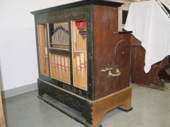 Frati barrel organ sold by John Muzzio; McFarland Curatorial Center.